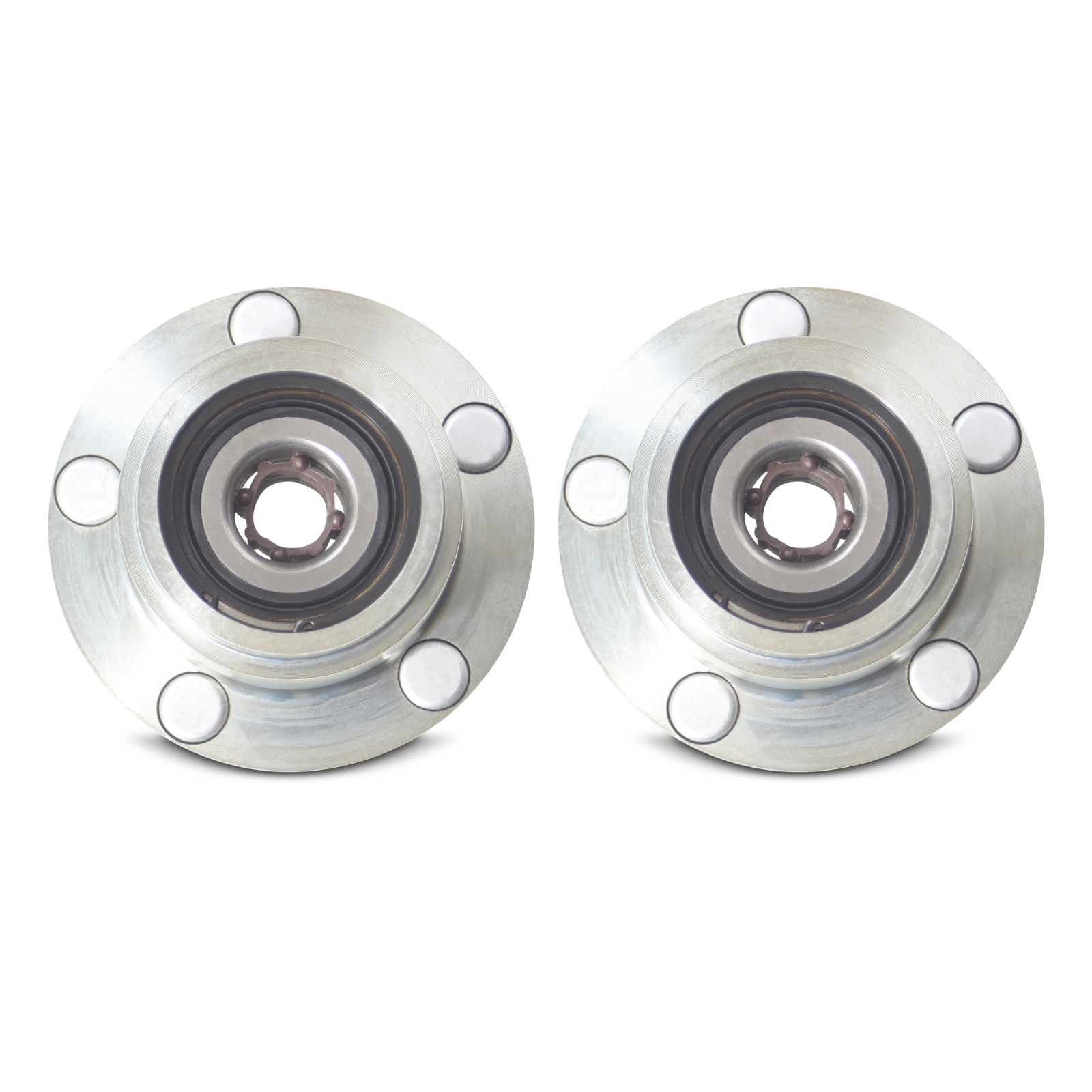 Front Pair of 4 to 5 Lug Wheel Conversion Hubs for 1989-1994 Nissan 240SX S13
