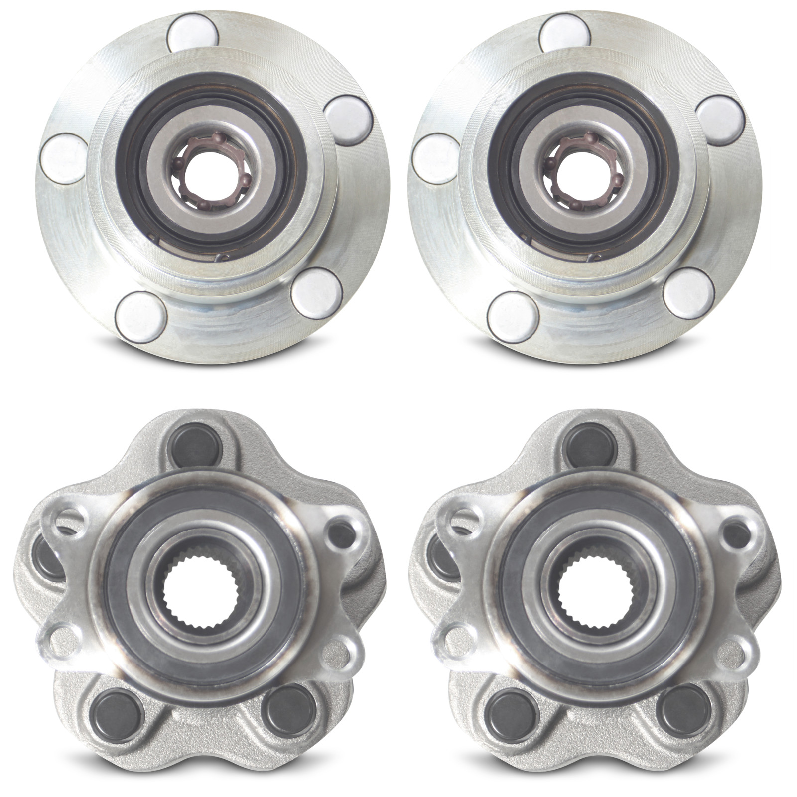 Full Set of 4 to 5 Lug Wheel Conversion Hubs for 1989-1994 Nissan 240SX S13